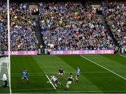 14 September 2019; Stephen Cluxton of Dublin saves a shot on goal by Stephen O'Brien of Kerry during the GAA Football All-Ireland Senior Championship Final Replay match between Dublin and Kerry at Croke Park in Dublin. Photo by Eóin Noonan/Sportsfile