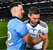 14 September 2019; Philip McMahon of Dublin and captain Stephen Cluxton celebrate at the final whistle of the GAA Football All-Ireland Senior Championship Final Replay match between Dublin and Kerry at Croke Park in Dublin. Photo by Ray McManus/Sportsfile