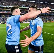 14 September 2019; Philip McMahon of Dublin and Cormac Costello of Dublin celebrate after the final whistle of the GAA Football All-Ireland Senior Championship Final Replay match between Dublin and Kerry at Croke Park in Dublin. Photo by Ray McManus/Sportsfile
