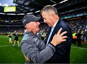 14 September 2019; Dublin manager Jim Gavin and John Costello, CEO of the Dublin County Board, celebrate after the GAA Football All-Ireland Senior Championship Final Replay match between Dublin and Kerry at Croke Park in Dublin. Photo by Ray McManus/Sportsfile
