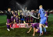 14 September 2019; Dundalk players celebrate after the EA Sports Cup Final match between Derry City and Dundalk at Ryan McBride Brandywell Stadium in Derry. Photo by Oliver McVeigh/Sportsfile