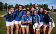 14 September 2019; Players from Abbeyside, Co Waterford celebrate after they beat The Banner, Co Clare, in the Intermediate Championship Final during the 2019 LGFA All-Ireland Club 7s at Naomh Mearnóg & St Sylvesters in Dublin. Photo by Michael P Ryan/Sportsfile