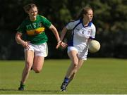 14 September 2019; Action from the Intermediate Group 1 match between Kingdom Kerry Gaels, London and Naas Gaels, Co Kildare, during the 2019 LGFA All-Ireland Club 7s at Naomh Mearnóg & St Sylvesters in Dublin. Photo by Michael P Ryan/Sportsfile