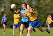 14 September 2019; Action from the Senior Championship Semi-Final match between Westport, Co Mayo and The Banner, Co Clare, during the 2019 LGFA All-Ireland Club 7s at Naomh Mearnóg & St Sylvesters in Dublin. Photo by Michael P Ryan/Sportsfile