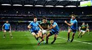 14 September 2019; David Clifford of Kerry is tackled, close to the end line, by Dublin players Philip McMahon and Cormac Costello of Dublin during the GAA Football All-Ireland Senior Championship Final Replay match between Dublin and Kerry at Croke Park in Dublin. Photo by Ray McManus/Sportsfile