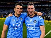 14 September 2019; Dublin players Bernard Brogan and Paddy Andrews celebrate after the GAA Football All-Ireland Senior Championship Final Replay match between Dublin and Kerry at Croke Park in Dublin. Photo by Ray McManus/Sportsfile
