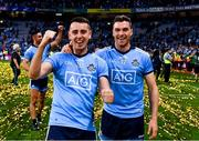14 September 2019; Cormac Costello of Dublin and team mate Paddy Andrews celebrate after the GAA Football All-Ireland Senior Championship Final Replay match between Dublin and Kerry at Croke Park in Dublin. Photo by Ray McManus/Sportsfile
