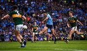 14 September 2019; Niall Scully of Dublin takes a shot at goal despite the attention of Tadhg Morley, left, and Gavin Crowley of Kerry during the GAA Football All-Ireland Senior Championship Final Replay match between Dublin and Kerry at Croke Park in Dublin. Photo by Sam Barnes/Sportsfile
