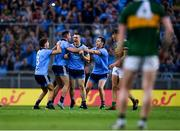14 September 2019; Dublin players, John Small, Cormac Costello, Michael Fitzsimons and Dean Rock celebrate at the final whistle, as David Clifford of Kerry looks on dejected following the GAA Football All-Ireland Senior Championship Final Replay match between Dublin and Kerry at Croke Park in Dublin. Photo by Sam Barnes/Sportsfile