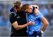 14 September 2019; Jonny Cooper of Dublin celebrates with Dublin selector Declan D'Arcy following the GAA Football All-Ireland Senior Championship Final Replay match between Dublin and Kerry at Croke Park in Dublin. Photo by Sam Barnes/Sportsfile