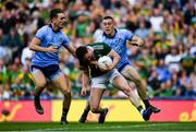 14 September 2019; Tadhg Morley of Kerry is fouled by Con O'Callaghan of Dublin, before Referee Conor Lane appeared to show a black card to Michael Fitzsimons, left, of Dublin, during the GAA Football All-Ireland Senior Championship Final Replay between Dublin and Kerry at Croke Park in Dublin. Photo by Piaras Ó Mídheach/Sportsfile