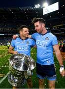 14 September 2019; Kevin McManamon, left, and Michael Darragh Macauley of Dublin with the Sam Maguire Cup following the GAA Football All-Ireland Senior Championship Final Replay between Dublin and Kerry at Croke Park in Dublin. Photo by Seb Daly/Sportsfile