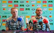 15 September 2019; Head coach Joe Schmidt, left, and captain Rory Best during an Ireland Rugby Press Conference at the Hotel New Otani Makuhari in Chiba, Japan. Photo by Brendan Moran/Sportsfile