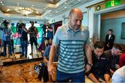15 September 2019; Captain Rory Best arrives for an Ireland Rugby Press Conference at the Hotel New Otani Makuhari in Chiba, Japan. Photo by Brendan Moran/Sportsfile