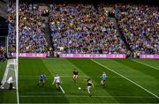 14 September 2019; Stephen O'Brien of Kerry has a shot on goal which was subsequently saved by Dublin goalkeeper Stephen Cluxton during the GAA Football All-Ireland Senior Championship Final Replay between Dublin and Kerry at Croke Park in Dublin. Photo by Stephen McCarthy/Sportsfile