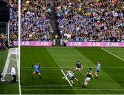14 September 2019; Dublin goalkeeper Stephen Cluxton saves from Stephen O'Brien of Kerry during the GAA Football All-Ireland Senior Championship Final Replay between Dublin and Kerry at Croke Park in Dublin. Photo by Stephen McCarthy/Sportsfile