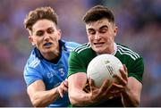 14 September 2019; Seán O'Shea of Kerry is tackled by Michael Fitzsimons of Dublin during the GAA Football All-Ireland Senior Championship Final Replay between Dublin and Kerry at Croke Park in Dublin. Photo by Stephen McCarthy/Sportsfile