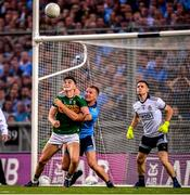 14 September 2019; Seán O'Shea of Kerry Ciarán Kilkenny and Dublin goalkeeper Stephen Cluxton during the GAA Football All-Ireland Senior Championship Final Replay between Dublin and Kerry at Croke Park in Dublin. Photo by Stephen McCarthy/Sportsfile