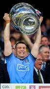 14 September 2019; John Small of Dublin lifts the Sam Maguie Cup following the GAA Football All-Ireland Senior Championship Final Replay between Dublin and Kerry at Croke Park in Dublin. Photo by Seb Daly/Sportsfile