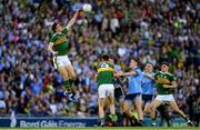 14 September 2019; David Moran of Kerry wins possession from the second half throw-in during the GAA Football All-Ireland Senior Championship Final Replay match between Dublin and Kerry at Croke Park in Dublin. Photo by Ramsey Cardy/Sportsfile