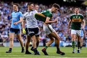 14 September 2019; Stephen Cluxton of Dublin and David Clifford of Kerry tussle off the ball during the GAA Football All-Ireland Senior Championship Final Replay match between Dublin and Kerry at Croke Park in Dublin. Photo by Sam Barnes/Sportsfile