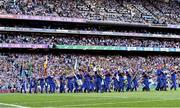 14 September 2019; The Artane Band lead both teams during the parade during the GAA Football All-Ireland Senior Championship Final Replay match between Dublin and Kerry at Croke Park in Dublin. Photo by Sam Barnes/Sportsfile