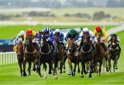 15 September 2019; Buffer Zone, third left, with Colin Keane up, on their way to winning the Irish Stallion Farms EBF 'Bold Lad' Sprint Handicap during Day Two of the Irish Champions Weekend at The Curragh Racecourse in Kildare. Photo by Seb Daly/Sportsfile