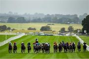 15 September 2019; A view of the field during the Irish Stallion Farms EBF 'Bold Lad' Sprint Handicap during Day Two of the Irish Champions Weekend at The Curragh Racecourse in Kildare. Photo by Seb Daly/Sportsfile