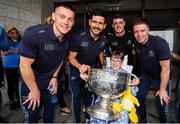 15 September 2019; Mary Rose O'Connell, age 12, from Co Waterford pictured with Dublin players, from left, Con O'Callaghan, Cian O'Sullivan, Brian Howard and Rob McDaid and the Sam Maguire Cup on a visit by the All-Ireland Senior Football Champions to the Children's Health Ireland at Crumlin in Dublin. Photo by David Fitzgerald/Sportsfile