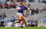 15 September 2019; Caitlín Kennedy of Tipperary in action against Katie Newe of Meath during the TG4 All-Ireland Ladies Football Intermediate Championship Final match between Meath andTipperary at Croke Park in Dublin. Photo by Piaras Ó Mídheach/Sportsfile