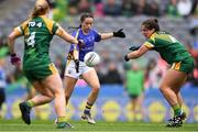 15 September 2019; Angela McGuigan of Tipperary shoots to score her side's first goal under pressure from Sarah Powderly, left, and Shauna Ennis of Meath during the TG4 All-Ireland Ladies Football Intermediate Championship Final match between Meath andTipperary at Croke Park in Dublin. Photo by Piaras Ó Mídheach/Sportsfile