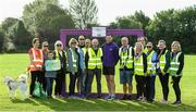 14 September 2019; David Gillick with Park Run stewards pictured at the Navan parkrun at Blackwater Park, in Navan, Co. Meath, where Vhi hosted a special event to celebrate their partnership with parkrun Ireland. Vhi ambassador and Olympian David Gillick was on hand to lead the warm up for parkrun participants before completing the 5km free event. Parkrunners enjoyed refreshments post event at the Vhi Rehydrate, Relax, Refuel and Reward areas. Parkrun in partnership with Vhi support local communities in organising free, weekly, timed 5k runs every Saturday at 9.30am. To register for a parkrun near you visit www.parkrun.ie.  Photo by Matt Browne/Sportsfile