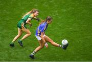 15 September 2019; Caitlín Kennedy of Tipperary in action against Orla Byrne of Meath during the TG4 All-Ireland Ladies Football Intermediate Championship Final match between Meath and Tipperary at Croke Park in Dublin. Photo by Ramsey Cardy/Sportsfile