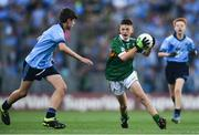 14 September 2019; Ben Murphy of Scoil Naomh Eoin Balloonagh Tralee, Co Kerry, in action against Ronan Mcnamara of Kilmacud Crokes, Co Dublin, during the INTO Cumann na mBunscol GAA Respect Exhibition Go Games at Dublin v Kerry - GAA Football All-Ireland Senior Championship Final Replay at Croke Park in Dublin. Photo by Sam Barnes/Sportsfile