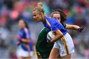 15 September 2019; Samantha Lambert of Tipperary gets past Emma Duggan of Meath during the TG4 All-Ireland Ladies Football Intermediate Championship Final match between Meath andTipperary at Croke Park in Dublin. Photo by Piaras Ó Mídheach/Sportsfile