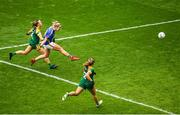 15 September 2019; Aisling McCarthy of Tipperary shoots to score her side's second goal during the TG4 All-Ireland Ladies Football Intermediate Championship Final match between Meath and Tipperary at Croke Park in Dublin. Photo by Ramsey Cardy/Sportsfile