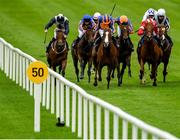 15 September 2019; Love, centre, with Ryan Moore up, on their way to winning the Moyglare Stud Stakes during Day Two of the Irish Champions Weekend at The Curragh Racecourse in Kildare. Photo by Seb Daly/Sportsfile