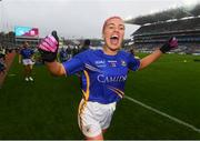 15 September 2019; Orla O'Dwyer of Tipperary celebrates following the TG4 All-Ireland Ladies Football Intermediate Championship Final match between Meath and Tipperary at Croke Park in Dublin. Photo by Stephen McCarthy/Sportsfile