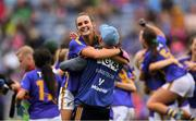 15 September 2019; Tipperary manager Shane Ronayne celebrates with Caitlín Kennedy after the TG4 All-Ireland Ladies Football Intermediate Championship Final match between Meath andTipperary at Croke Park in Dublin. Photo by Piaras Ó Mídheach/Sportsfile
