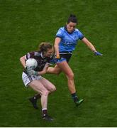 15 September 2019; Áine McDonagh of Galway in action against Niamh McEvoy of Dublin during the TG4 All-Ireland Ladies Football Senior Championship Final match between Dublin and Galway at Croke Park in Dublin. Photo by Ramsey Cardy/Sportsfile