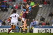 15 September 2019; Hannah O'Neill of Dublin scores her side's second goal during the TG4 All-Ireland Ladies Football Senior Championship Final match between Dublin and Galway at Croke Park in Dublin. Photo by Stephen McCarthy/Sportsfile