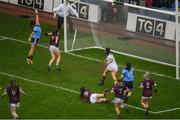 15 September 2019; Hannah O'Neill of Dublin scores her side's second goal during the TG4 All-Ireland Ladies Football Senior Championship Final match between Dublin and Galway at Croke Park in Dublin. Photo by Ramsey Cardy/Sportsfile