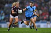 15 September 2019; Megan Glynn of Galway in action against Noëlle Healy of Dublin during the TG4 All-Ireland Ladies Football Senior Championship Final match between Dublin and Galway at Croke Park in Dublin. Photo by Piaras Ó Mídheach/Sportsfile