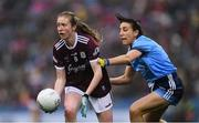 15 September 2019; Louise Ward of Galway in action against Siobhán McGrath of Dublin during the TG4 All-Ireland Ladies Football Senior Championship Final match between Dublin and Galway at Croke Park in Dublin. Photo by Piaras Ó Mídheach/Sportsfile