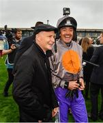 15 September 2019; Pat Smullen, left, and Ruby Walsh prior to the Pat Smullen Champions Race For Cancer Trials Ireland during Day Two of the Irish Champions Weekend at The Curragh Racecourse in Kildare. Photo by Seb Daly/Sportsfile