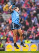 15 September 2019; Noëlle Healy of Dublin celebrates after scoring a point during the TG4 All-Ireland Ladies Football Senior Championship Final match between Dublin and Galway at Croke Park in Dublin. Photo by Stephen McCarthy/Sportsfile