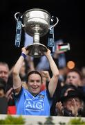 15 September 2019; Dublin captain Sinéad Aherne lifts the Brendan Martin Cup following the TG4 All-Ireland Ladies Football Senior Championship Final match between Dublin and Galway at Croke Park in Dublin. Photo by Piaras Ó Mídheach/Sportsfile