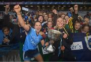 15 September 2019; Kate Sullivan, left, and Nicole Owens of Dublin following the TG4 All-Ireland Ladies Football Senior Championship Final match between Dublin and Galway at Croke Park in Dublin. Photo by Ramsey Cardy/Sportsfile