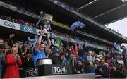 15 September 2019; Dublin captain Sinéad Aherne lifts the Brendan Martin Cup following the TG4 All-Ireland Ladies Football Senior Championship Final match between Dublin and Galway at Croke Park in Dublin. Photo by Ramsey Cardy/Sportsfile