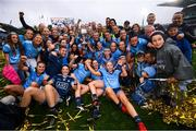15 September 2019; Dublin players celebrate following the TG4 All-Ireland Ladies Football Senior Championship Final match between Dublin and Galway at Croke Park in Dublin. Photo by Stephen McCarthy/Sportsfile